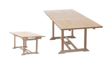 Large 180x240 Extending Rectangle Table